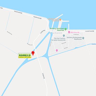 De locatie van Komeco