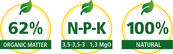 Komeco Bio Fertilizer is specially produced for organic certified farms.