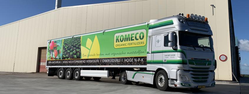 belettering trailer van Komeco